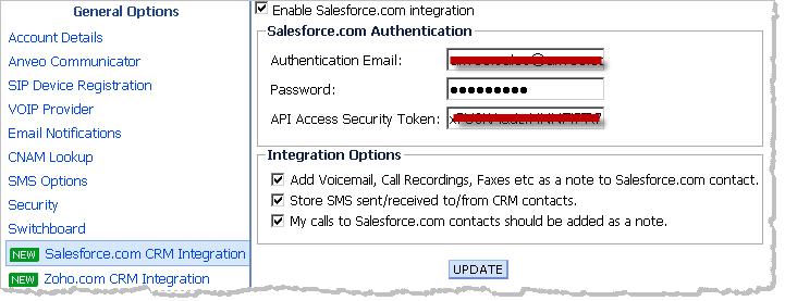 Salesforce com CTI IVR